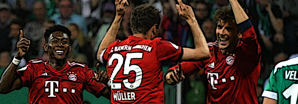 Thomas Müller and Leon Goretzka engage in an impromptu dance routine after the second goal.