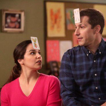 "Andy Samberg and Melissa Fumero in ""Brooklyn Nine-Nine"""