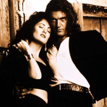 Salma Hayek and Antonio Banderas in Columbia Pictures Action Film Desperado