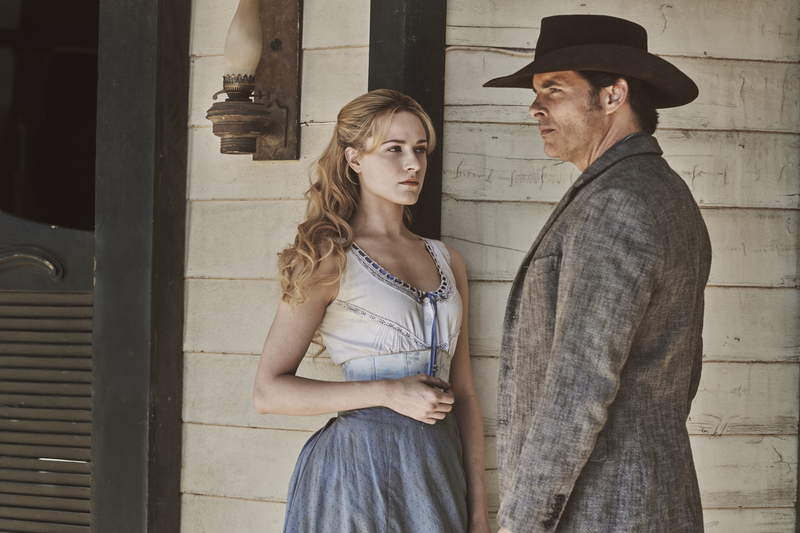 """Evan Rachel Wood and James Marsden in """"Westworld"""" from HBO Productions."""