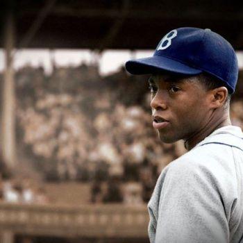 Chadwick Boseman in 42 from Warner Bros.