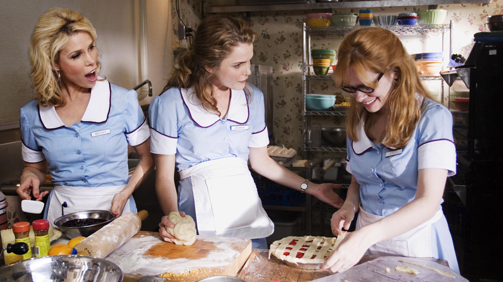 """Cheryl Hines, Keri Russell, and Adrienne Shelly star in """"Waitres"""" from Fox Searchlight Pictures."""