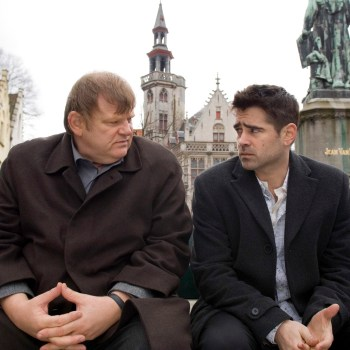 "Brendan Gleeson and Colin Farrell in the buddy movie ""In Bruges"" from Focus Features."