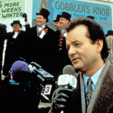 Bill Murray as Phil Conners in Groundhog Day.