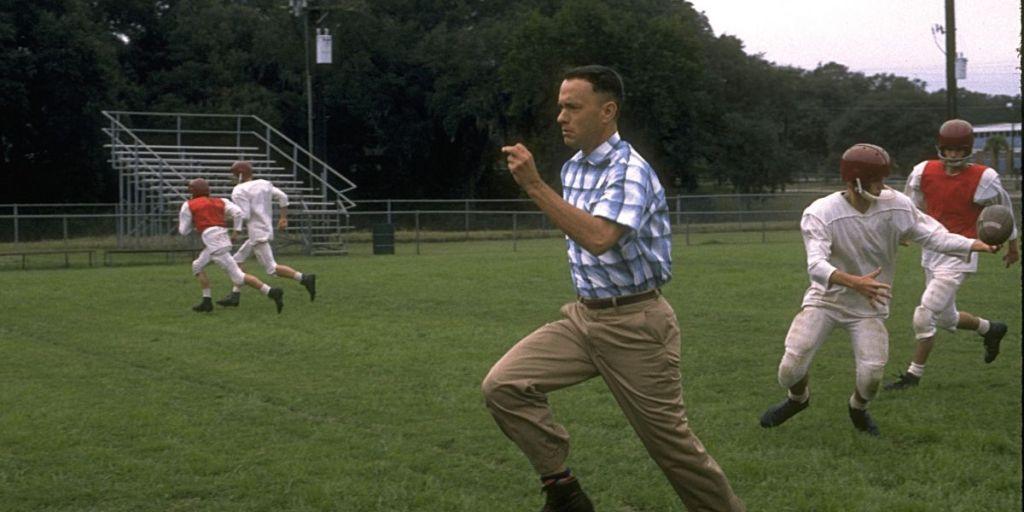 Tom Hanks as Forrest Gump in Forrest Gump (1994)