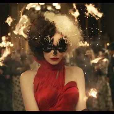 Cruella starring Emma Stone, from Disney+