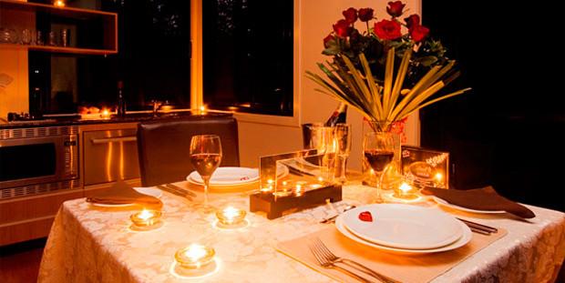 jantar romântico para pedir em casamento