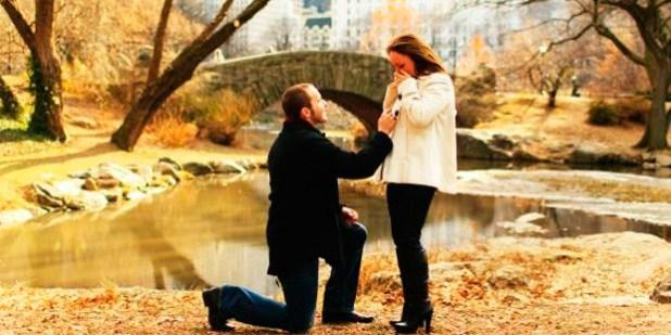 pedido de casamento no parque