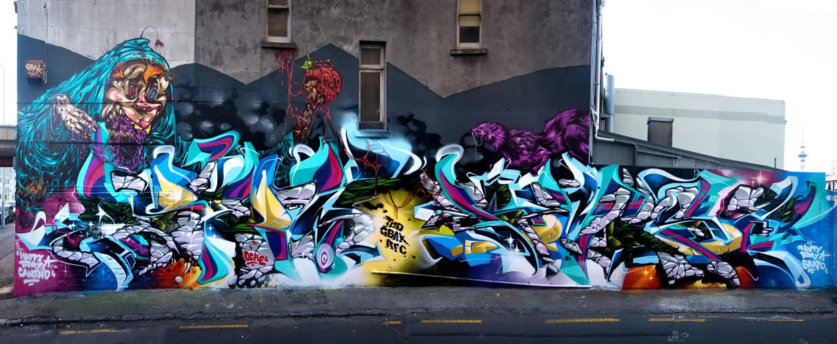 ASKEW, BERST, DEUS, Misery, graffiti, Ironlak