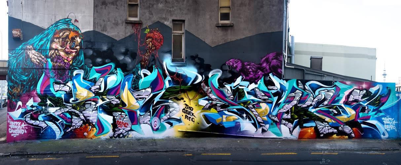 ASKEW, BERST, DEUS, Misery, graffiti, Ironlak