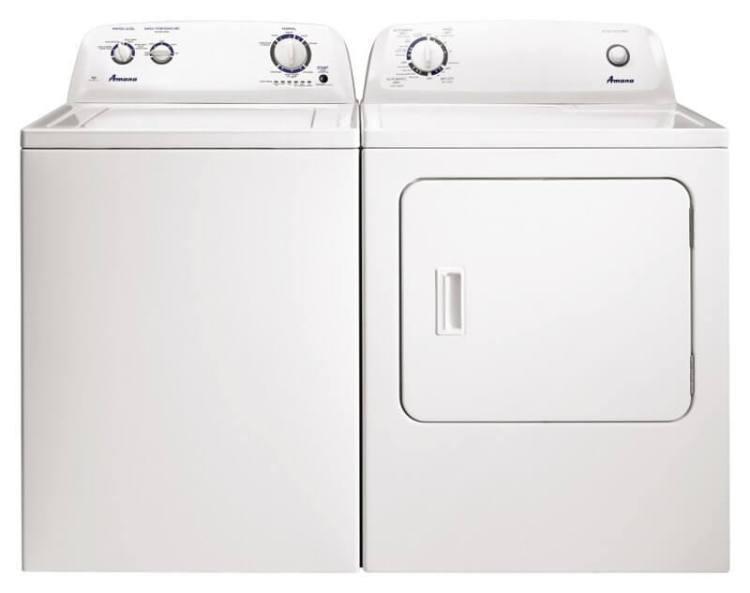 White Amana Washer and Dryer Set