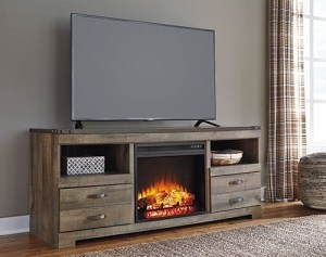 Ashley tv stand and fireplace