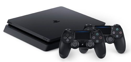 Playstation 4 with controllers