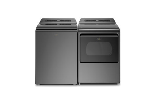 Black whirlpool chrome shadow washer and dryer