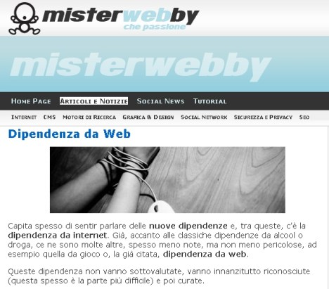 dipendenza web