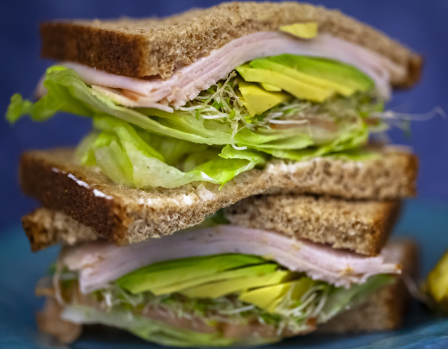 Otro sandwich ligero para el desayuno.