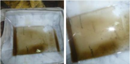 Detalle aceite virutas metálicas