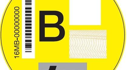 etiqueta amarilla de la DGT