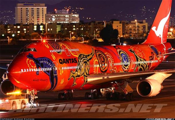 A Qantas Airlines különleges ausztrál gépe
