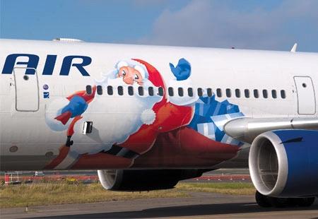 A Finnair télapós repülője