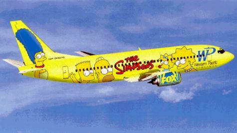 Simpson család egy Boeing 737-esen