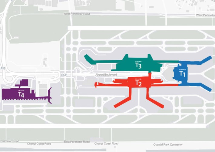 Changi repülőtér térképrajz
