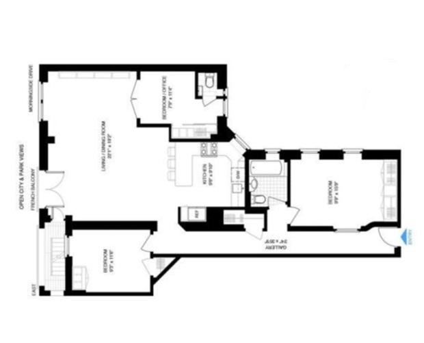 Classic six apartment layout