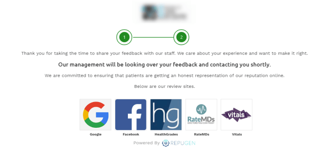 unhappy patients can post their reviews on review sites