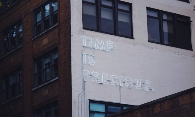 Time is precious sign