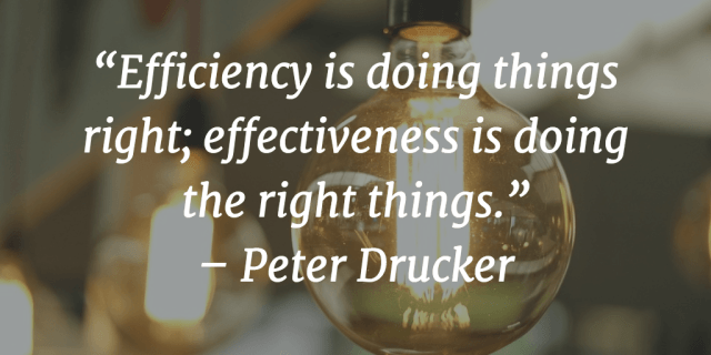 Time management quotes Peter Drucker