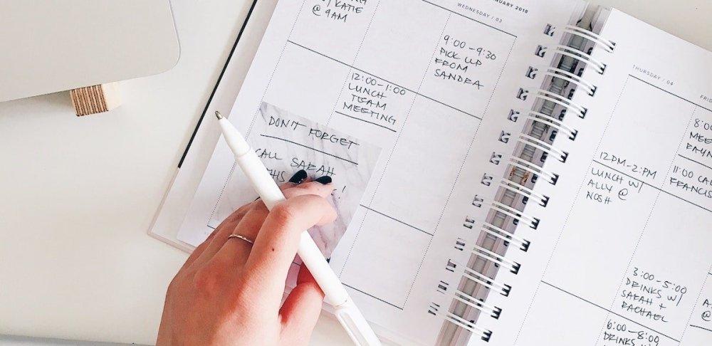 Calendar writing - reminders - time blocking-min