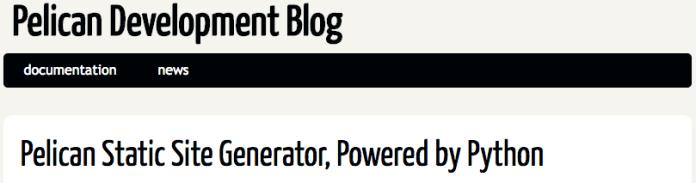 Pelican helps convert wordpress website to html