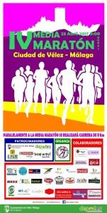 Cartel Carrera Media Maratón Vélez-Málaga 2017