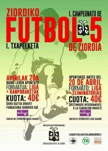 I Campeonato Futbol 5 sobre hierba Ziordia 2017