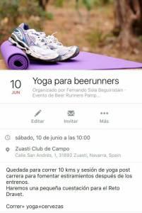 Yoga para Beer Runners Zuasti