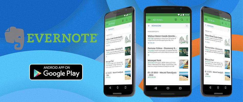 evernote - 15 melhores aplicações android grátis