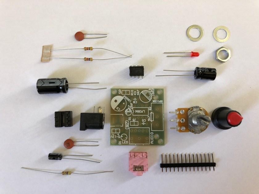M386 Super MINI Amplifier Board - components