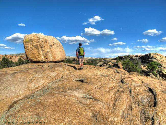 Hiker in the Granite Dells