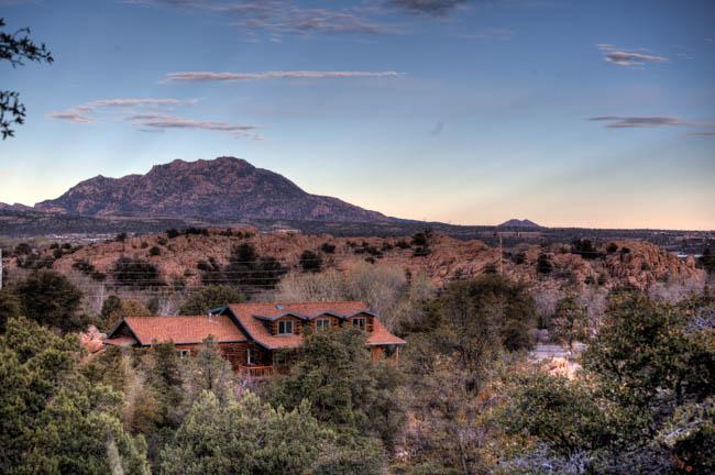 Granite Mountain Prescott AZ from The Watson Lake Inn.
