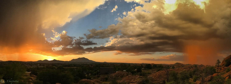 Prescott AZ Monsoon Sunset by Photographer Rich Charpentier