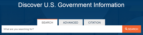 Search interface for beta search engine for many federal government sources.