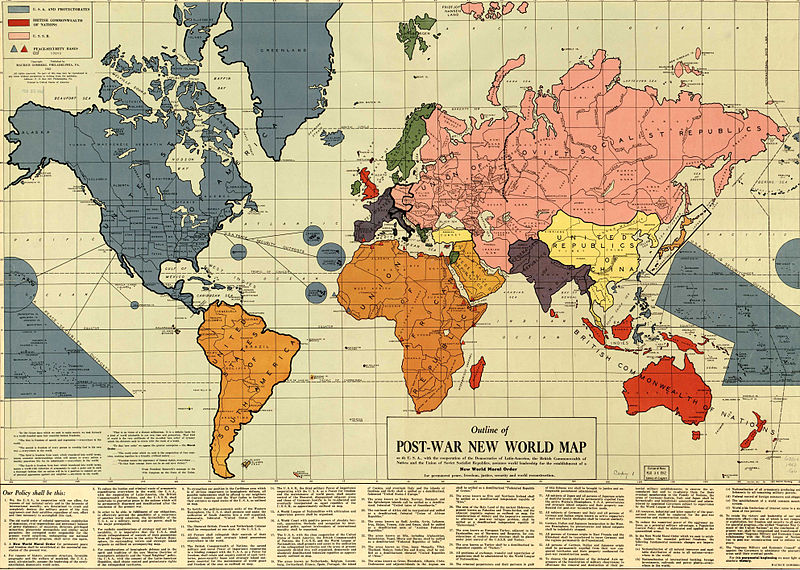 Map Shows World Axis Powers 1942
