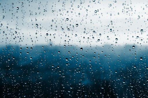 Rainy day - blue