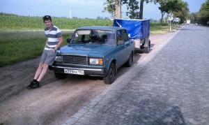 Короткий участок неудобной дороги в Польше