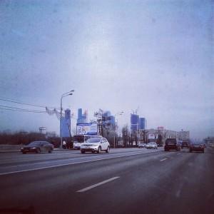 Москва-сити. Уже близко к дому
