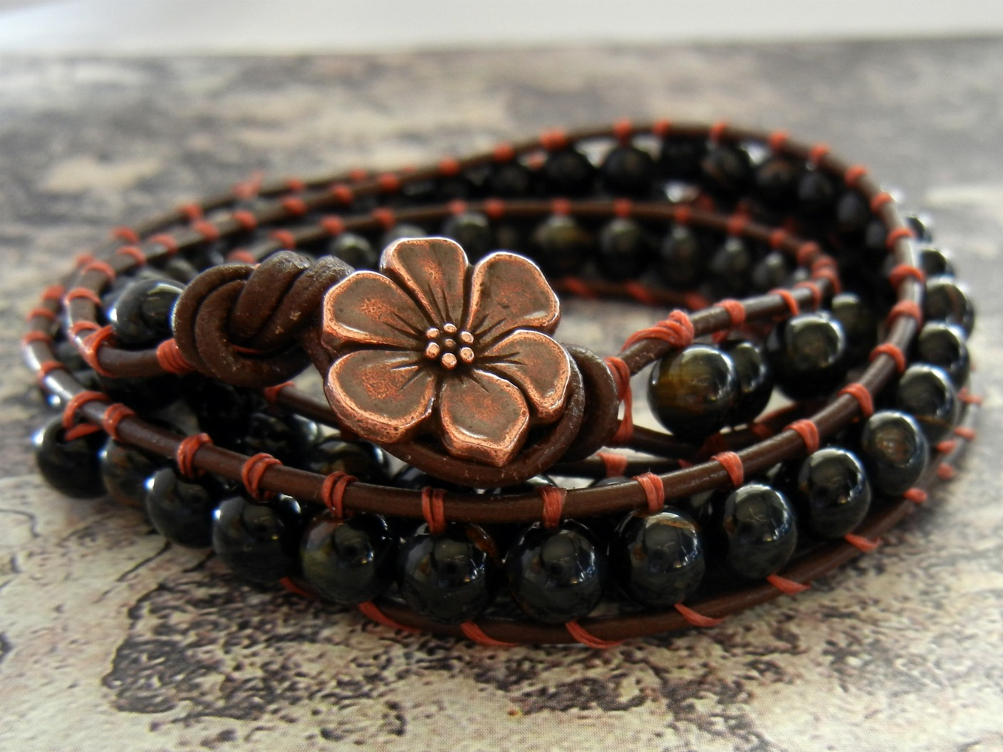 How To Make Wrapped Leather Bracelets Rings And Things