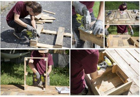 Les étapes de fabrication de la jardinière DIY de Ripaton