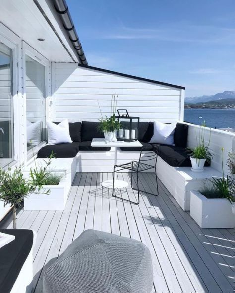 minimalisme deco balcon