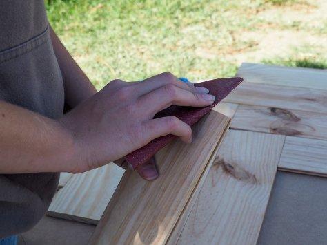 Ponçage bords des planches