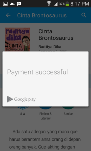 bill my indosat account 4 payment succesfull